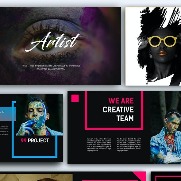 Artist Creative Presentation Keynote