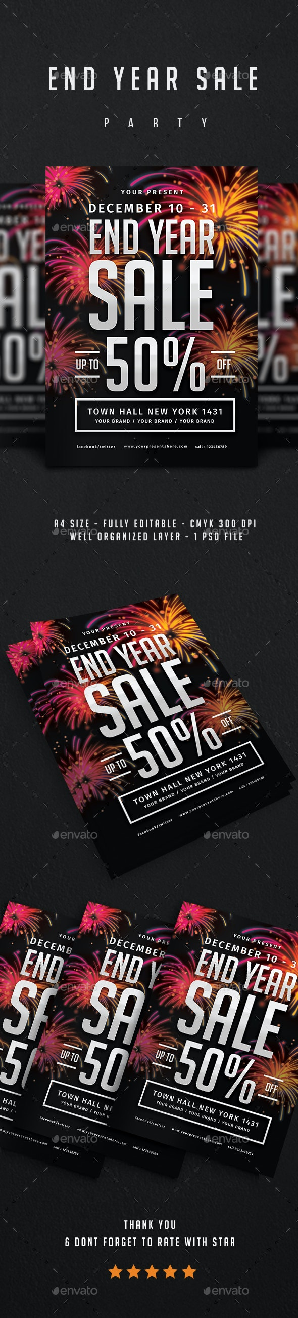 End Year Sale Flyer - Flyers Print Templates