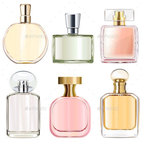 Vector Female Perfume Bottles