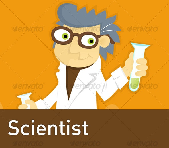 Geeky Scientist - Characters Illustrations