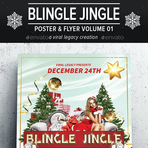 Blingle Jingle Poster / Flyer V01