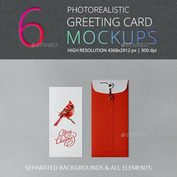 Photorealistic Invitation & Greeting Card Mockup Vol 3.0/ DL Edition