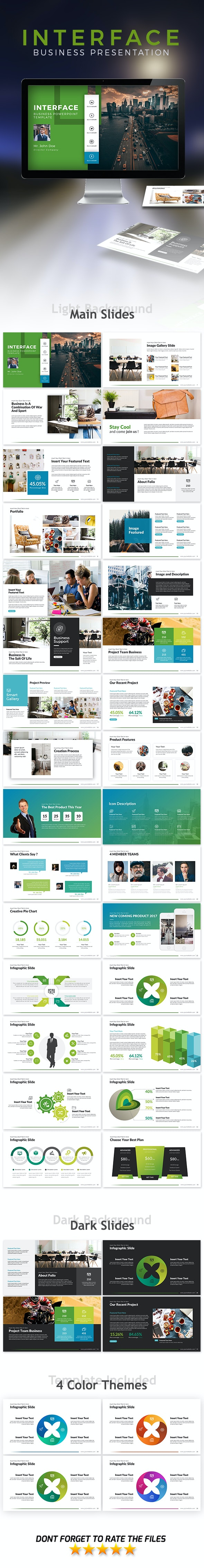 Interface Powerpoint Template - Business PowerPoint Templates