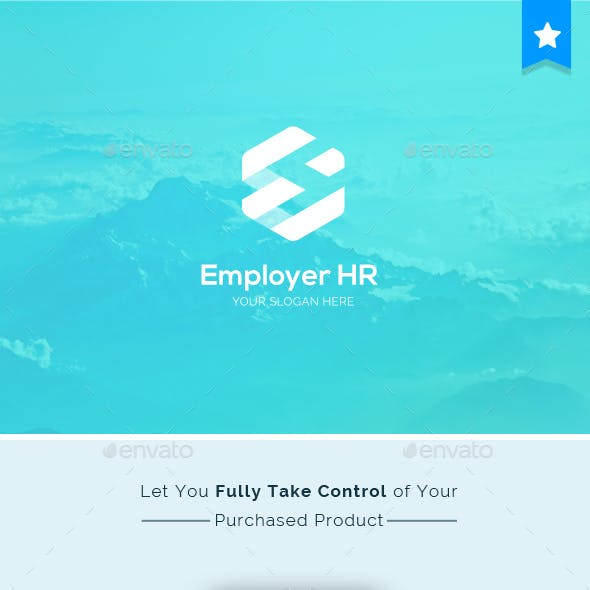 Employer Human Resources Letter E Logo Template