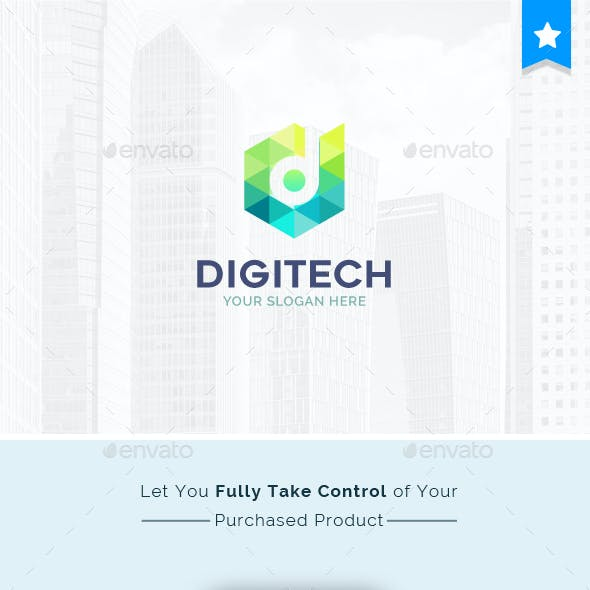 Digital Technology Company Creative Logo Template