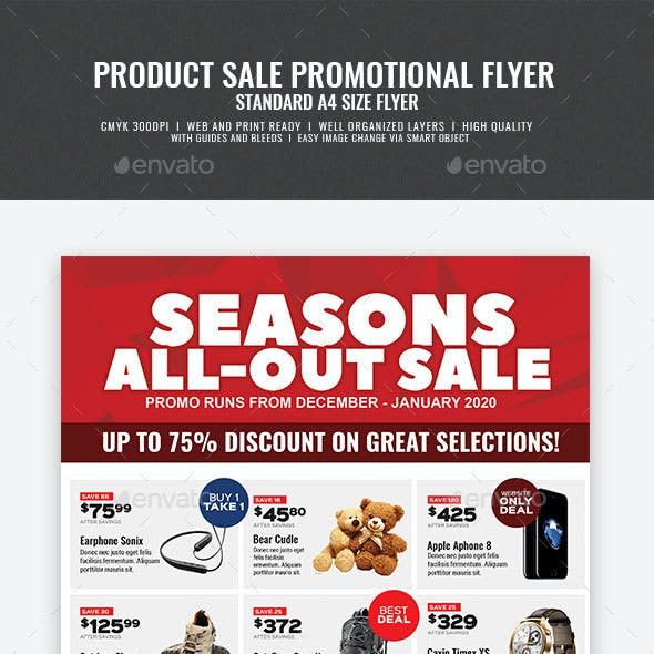 Product Promotional Sale Flyer