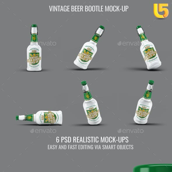 Vintage Beer Bootle Mock-Up