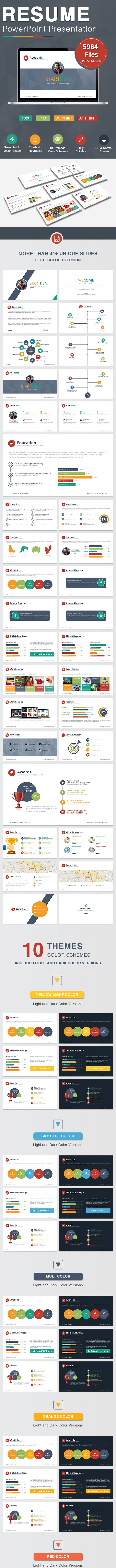 Resume Powerpoint - PowerPoint Templates Presentation Templates