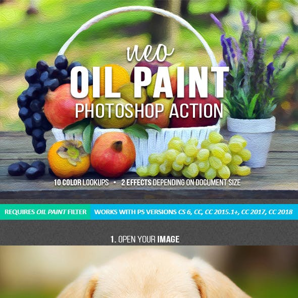 Neo Oil Painting Photoshop Action