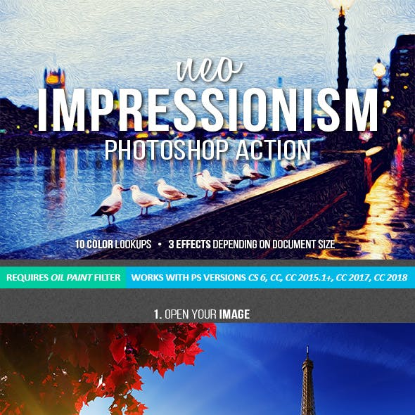 Neo Impressionist Art Photoshop Action