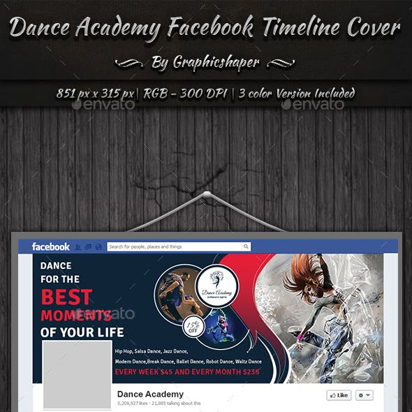 Dance Academy Facebook Timeline Cover