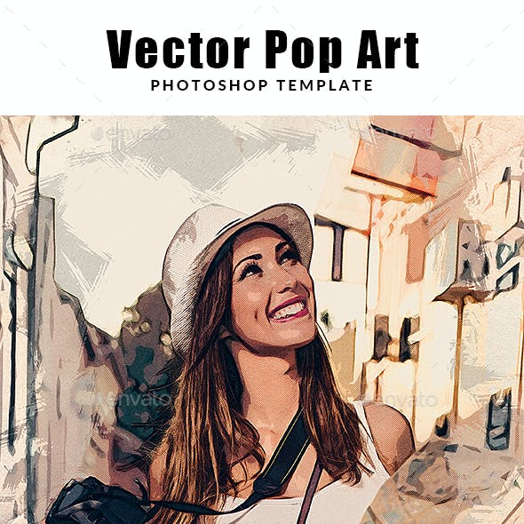 Vector Pop Art Photoshop Template