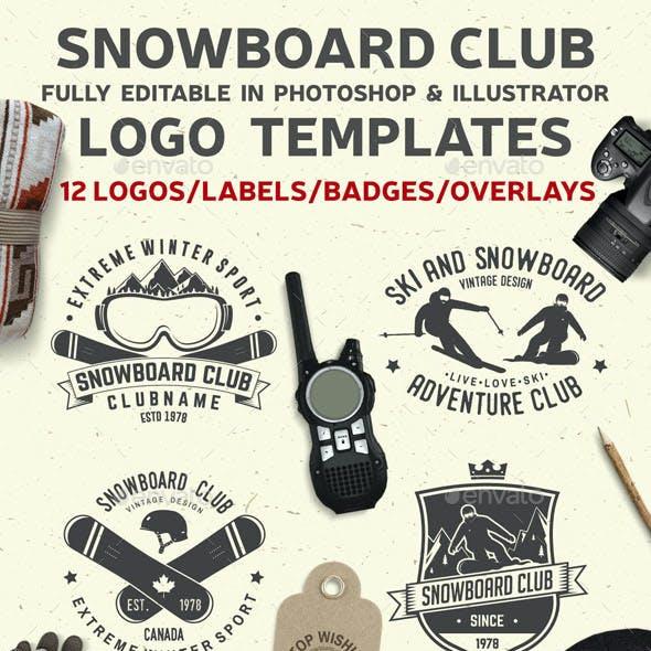 Snowboard Club Badges