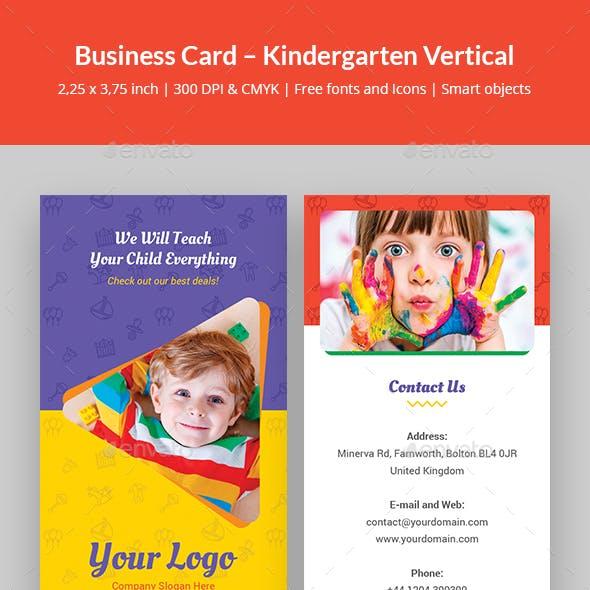 Business Card – Kindergarten Vertical