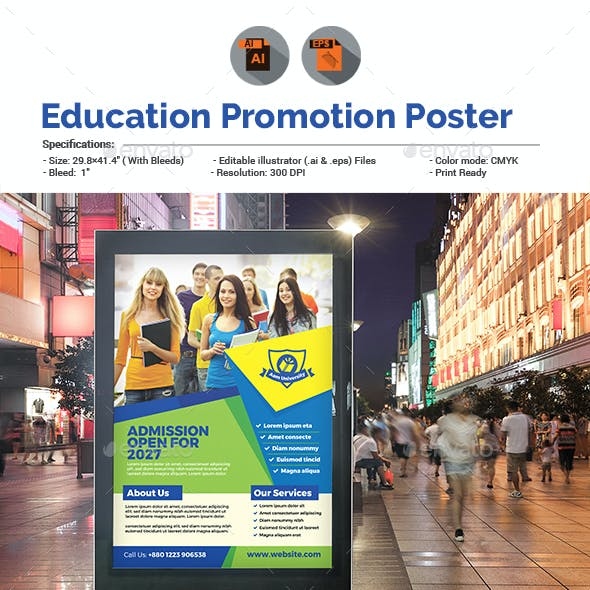 Education Promotion Poster Template