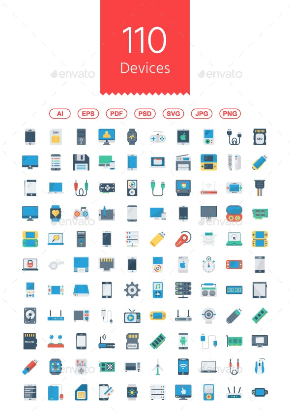 Devices Flat Icons