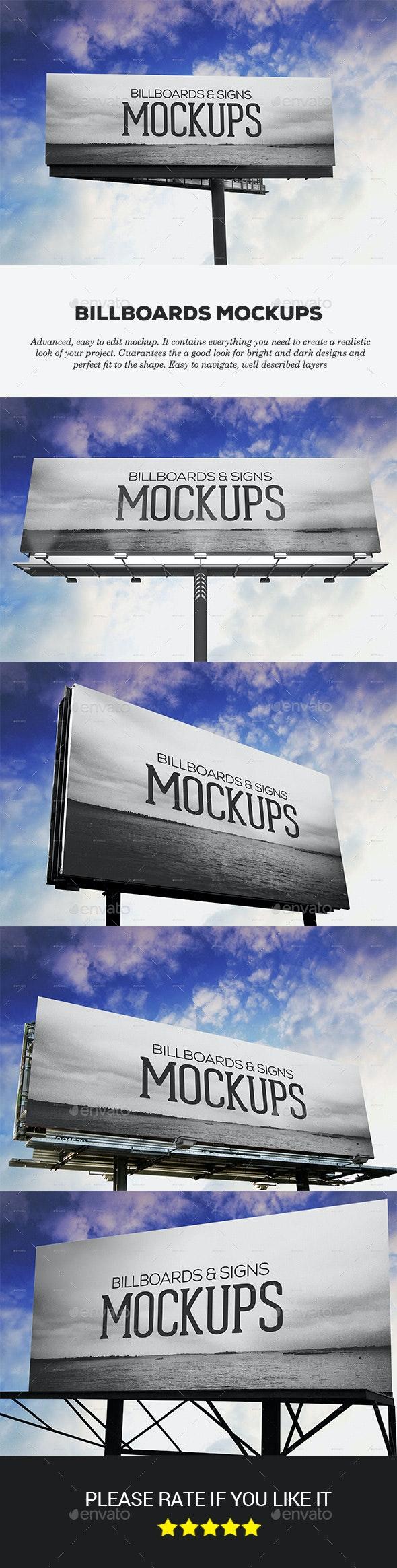 Billboards Mockups - Signage Print