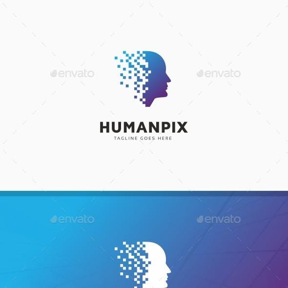 Human Pixel Digital Logo
