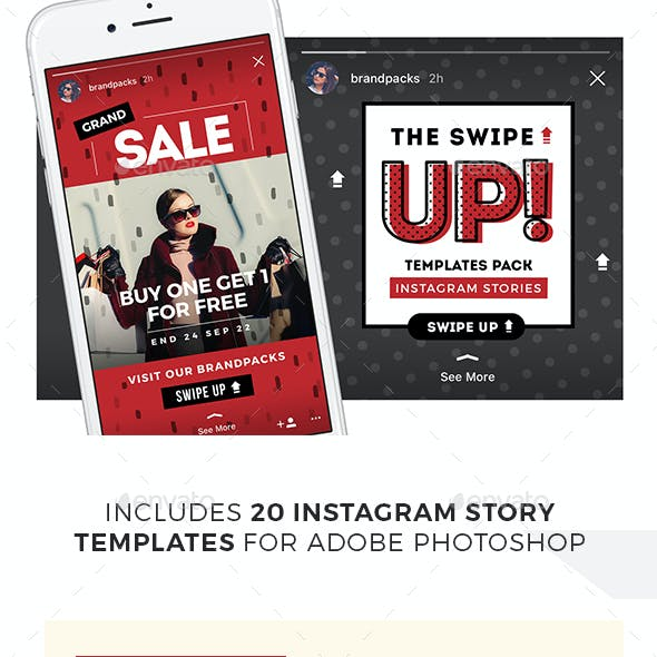 Swipe Up - Instagram Story Templates Pack
