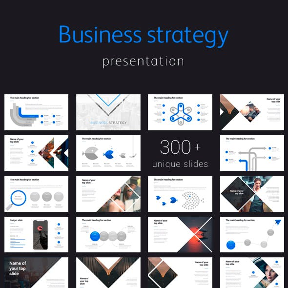 Business Strategy Corporate Google slide