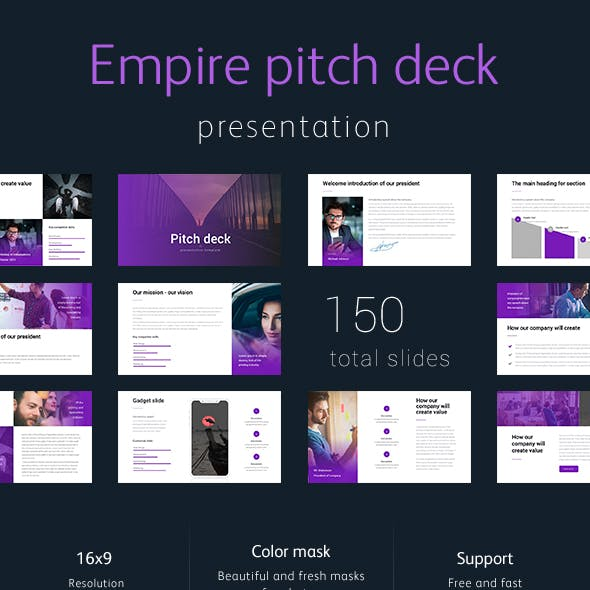 Pitch Deck Empire Powerpoint Google Slide