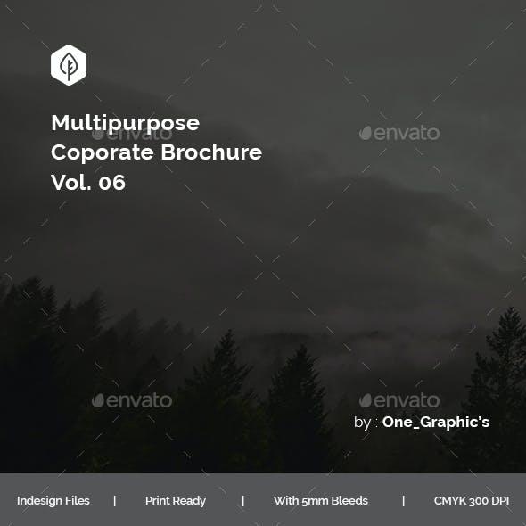 Multipurpose Corporate Brochure Template Vol. 06