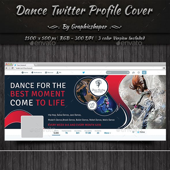 Dance Twitter Profile Cover