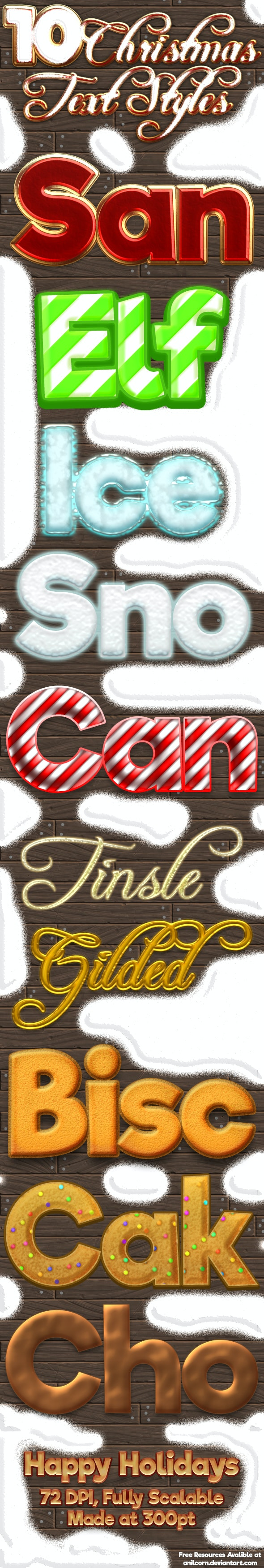 Christmas Text Styles - Text Effects Styles