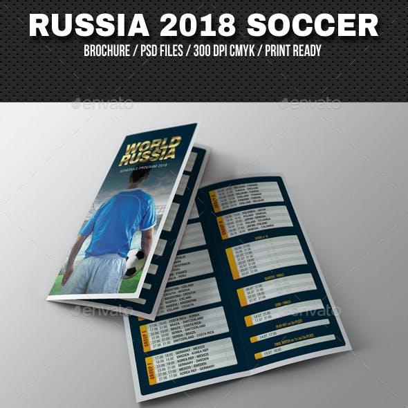 Russia World Soccer Cup 2018 Schedule Brochure