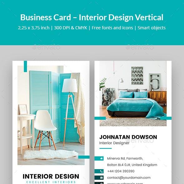 Business Card – Interior Design Vertical