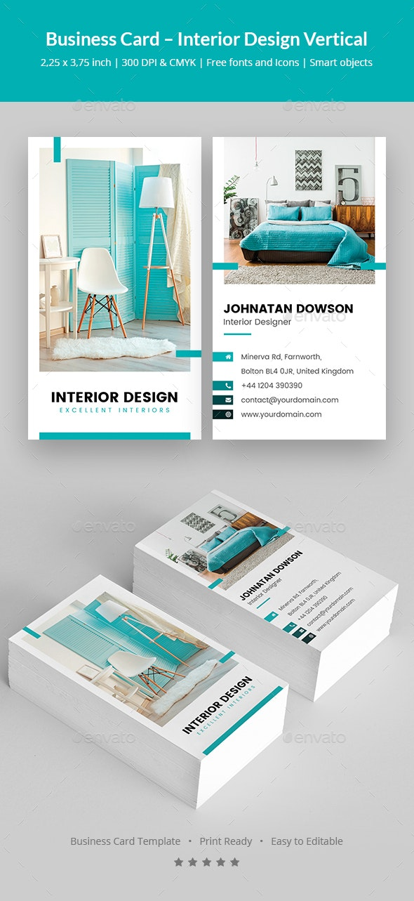 Business Card Interior Design Vertical By Artbart Graphicriver