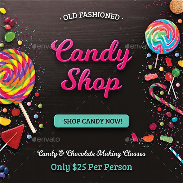 Web Banner Set - Candy Shop