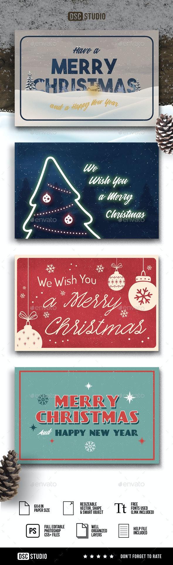 Retro Christmas Cards v.2 - Greeting Cards Cards & Invites