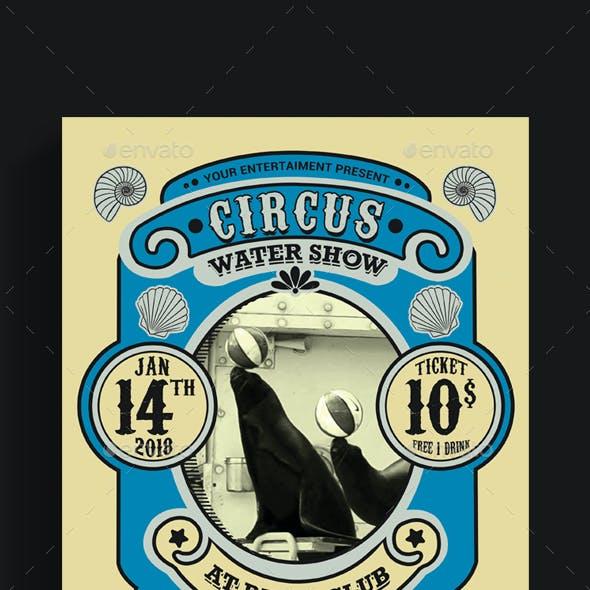 Vintage Marine Circus Carnival Flyer