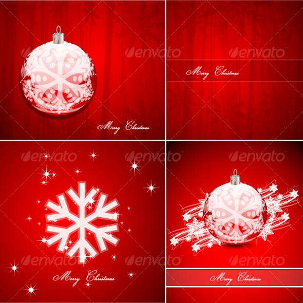 Pack of Christmas background