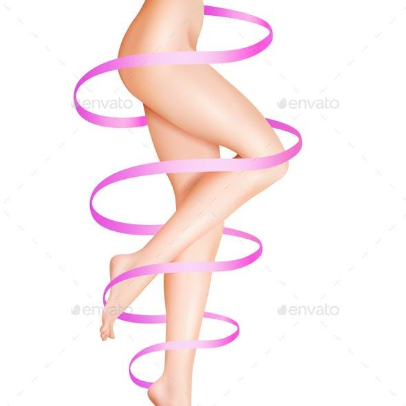 Female Legs Care Illustration