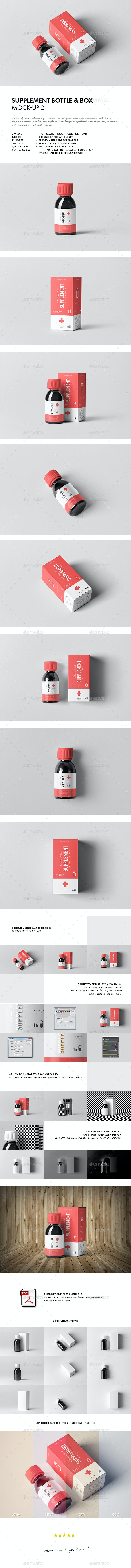 Supplement Bottle & Box Mock-up 2 - Miscellaneous Packaging