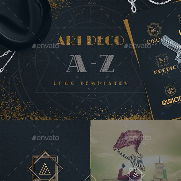 Art Deco A-Z Logo Templates