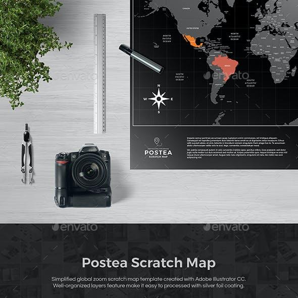 Postea Scratch Map Template