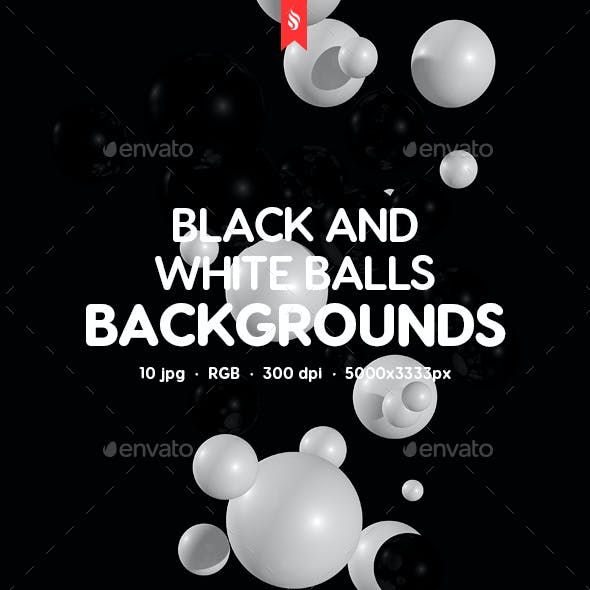 Black and White Balls Backgrounds