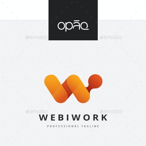 Web W Letter Logo