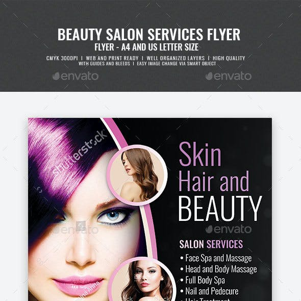 Hair and Makeup Center Flyer