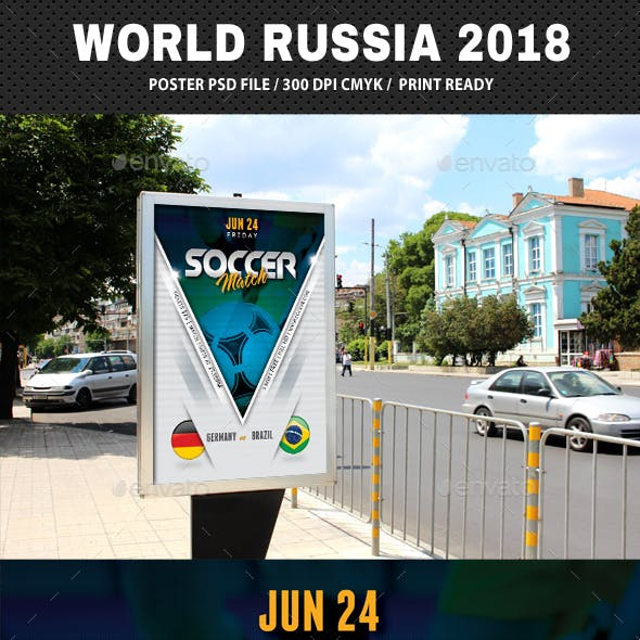 World Soccer Cup Russia 2018 Poster V2