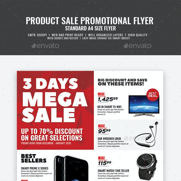 Promotional Sales and Holiday Events Flyer