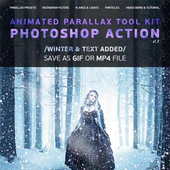 Animated Parallax Tool Kit Photoshop Action