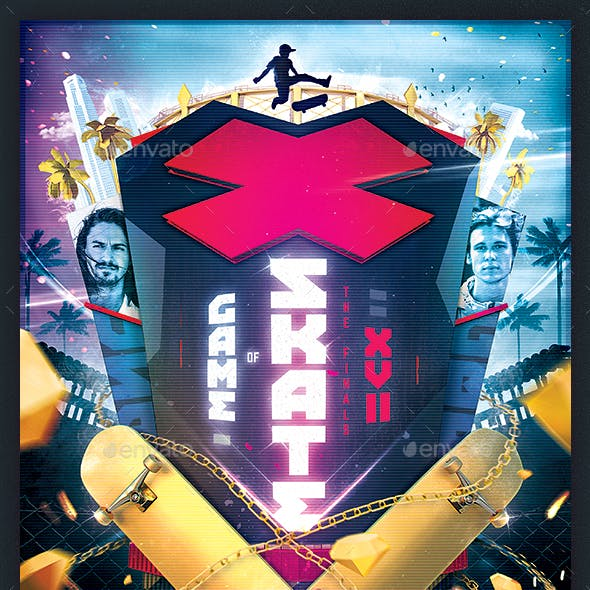 Game of Skate - Skateboarding Poster Template v.6