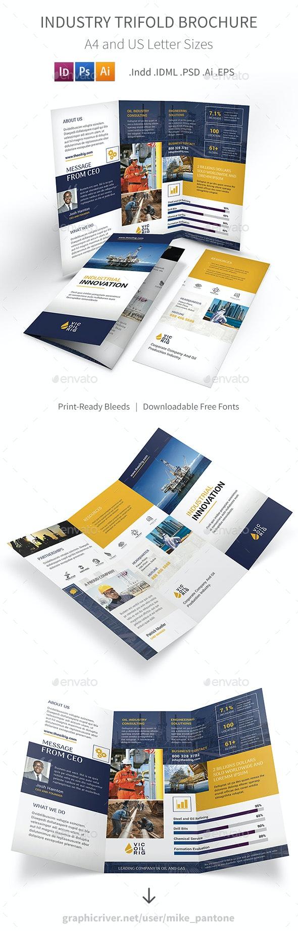 Industry Trifold Brochure - Corporate Brochures