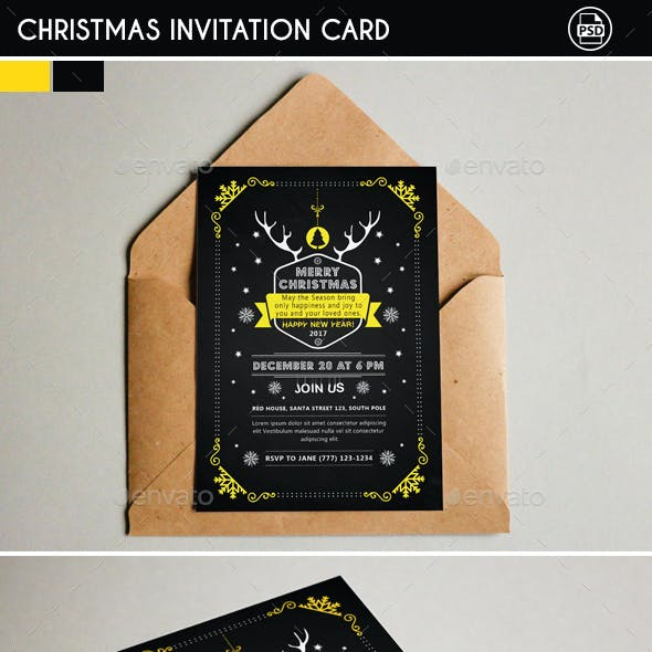 Christmas Invitation Card