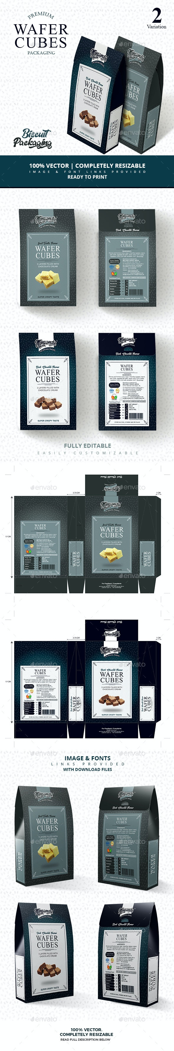 Premium wafer cubes packaging