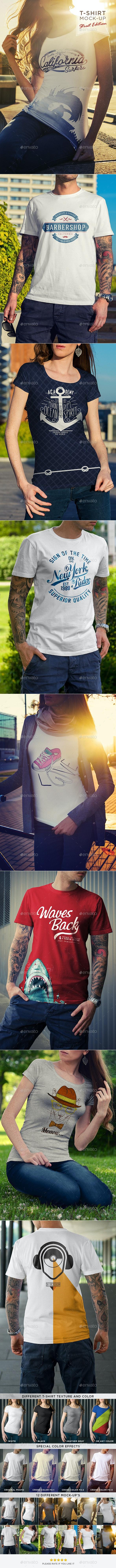 T-Shirt Mock-Up / Street Edition - T-shirts Apparel